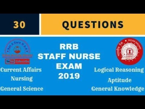 RRB Staff Nurse Exam Important Questions from old Question Papers