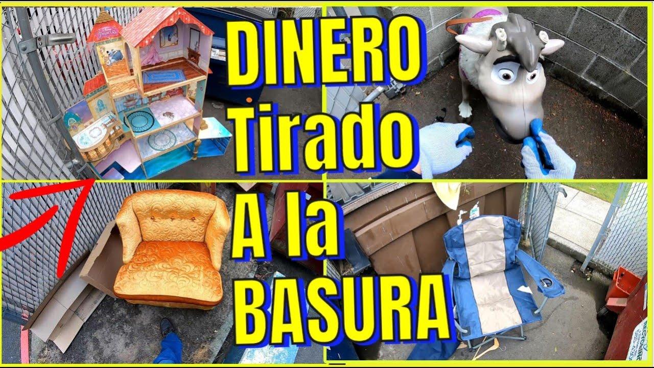 DUMPSTER DIVING - LO QUE TIRAN EN USA #67  Dinero GRATIS Tirado A La Basura!!!