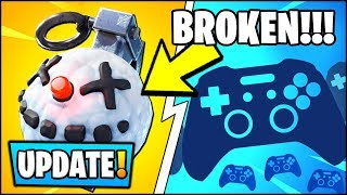 'NOUVEAU' BROKEN CHILLER GRENADE - MOBILE CONTROLLER SUPPORT // Fortnite v7.30 Update Patch Notes