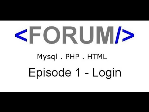 HTML PHP MySQL Forum Building [ 1 ] - Log In