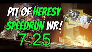 """Destiny 2 - """"Pit of Heresy"""" Speedrun WR! [7:25]"""