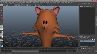 1 Maya Çizgi bir Kedi modelleme - Bölüm