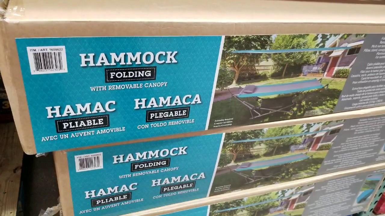 Costco Folding Hammock W Canopy 59 Youtube