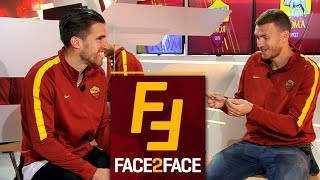 Face 2 Face: Dzeko and Strootman interview each other!