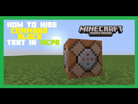 How To Hide Command Block Chat In Minecraft Pocket Edition | Tutorial | MCPE
