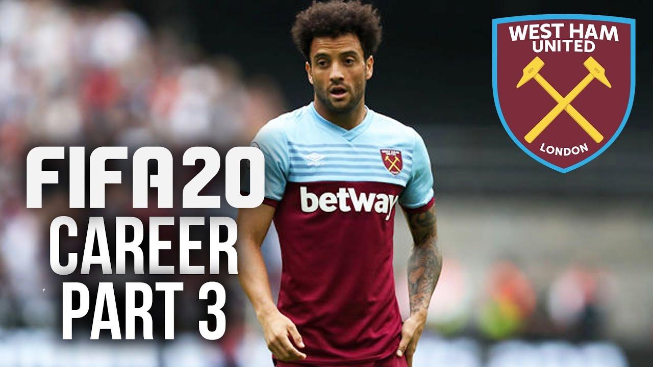 Procedimento de gameplay do FIFA 20 CAREER MODE - Parte 3 - QUASE FIXANDO O MODO DE CARREIRA (West Ham) + vídeo