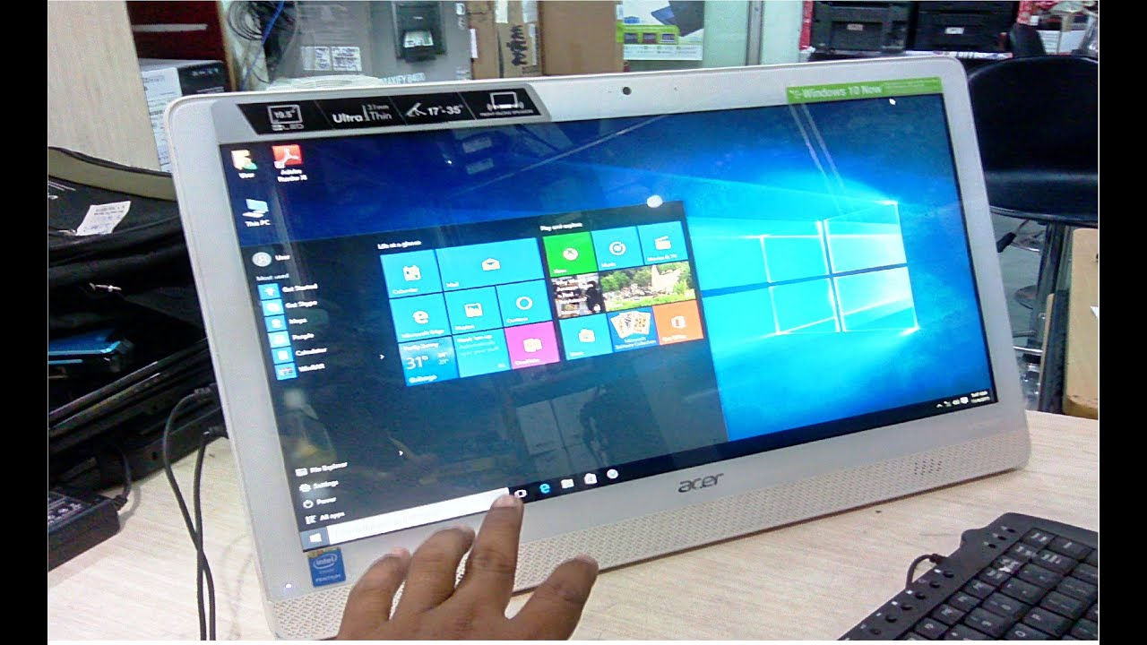 Unboxing Acer Aspire All In One Desktop Z1 611 Review Hands On You