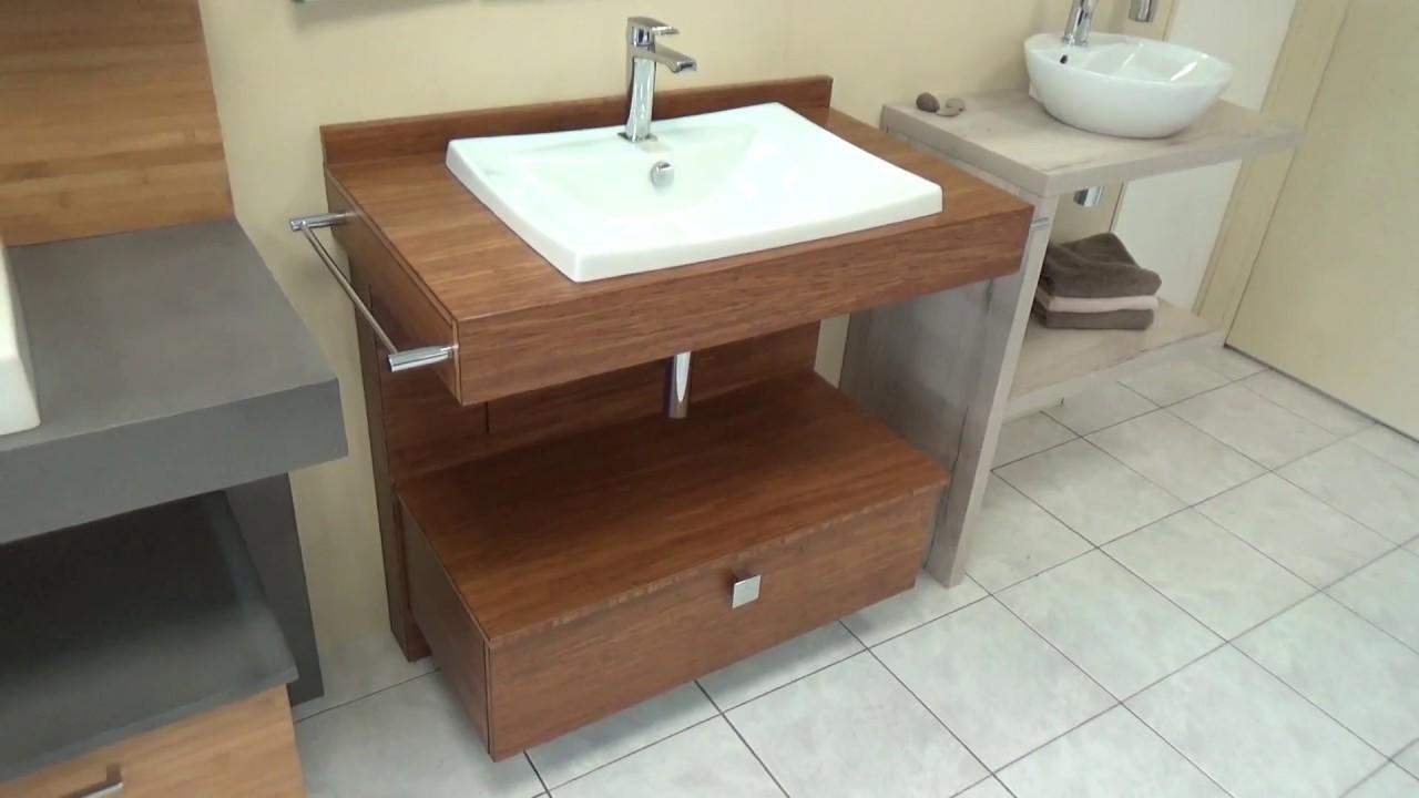 Atlantic Bain Morisseau Vertou meuble de salle de bain en bois massif