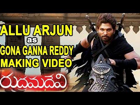 Allu Arjun as Gona Ganna Reddy's Making Video || Rudrama Devi Movie || Anushka