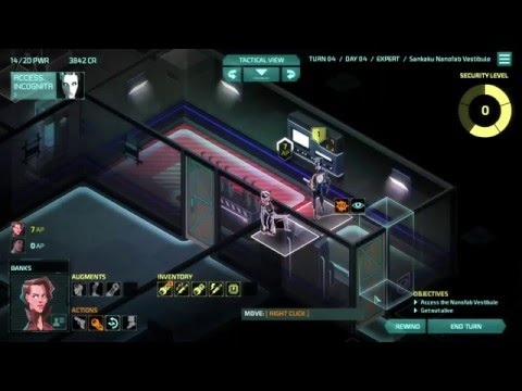 Let's Play Invisible, Inc. - Run #2 - Mission 9 - Shopping with Drones