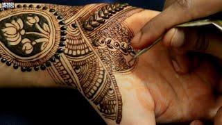 Real Mehndi Art Design For Hand | No Hack Best Artistic Henna Mehendi For Newly Married Girl 2018