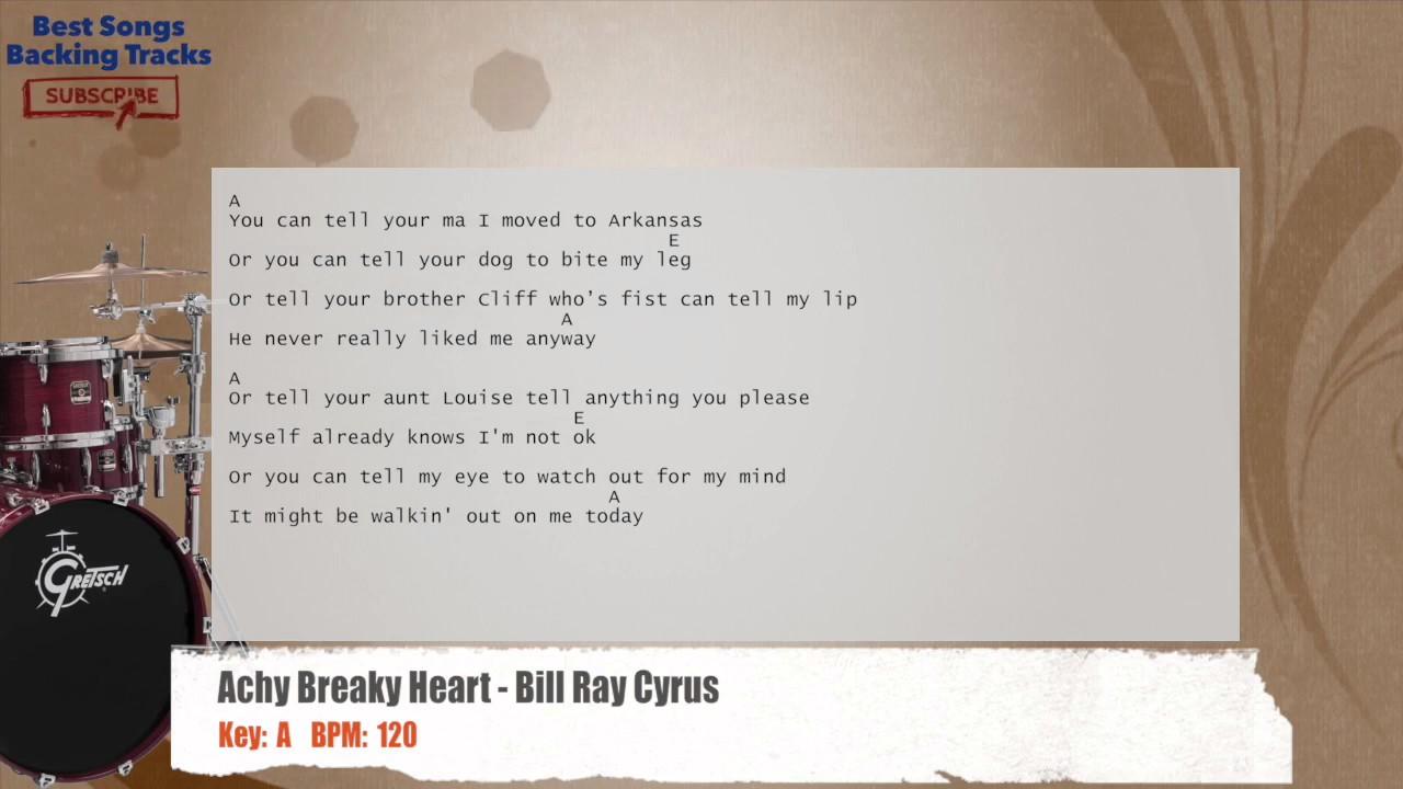 achy breaky heart backing track