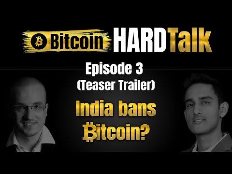 India Bans Bitcoin? | Sunny Ray & Simon Dixon | Bitcoin HARDTalk #3 (Teaser Trailer)