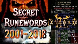 Secret Runewords From 2001 - Diablo 2