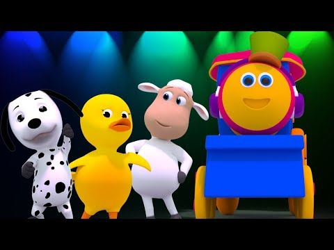 Bob, il treno- Animal Sounds Canzone | Animals Dance | Songs For Children's | Bob The Train