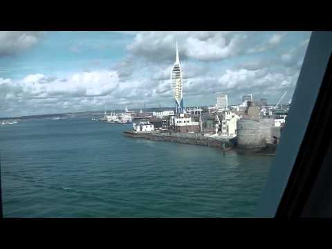 Portsmouth Ferry Port - arrival by sea from France