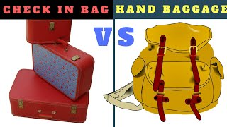 HAND BAGGAGE AND  CHECK IN BAGGAGE ALLOWANCE LIMIT | HAND BAGGAGE | CHECK IN LUGGAGE | TRAVEL TRICKS thumbnail