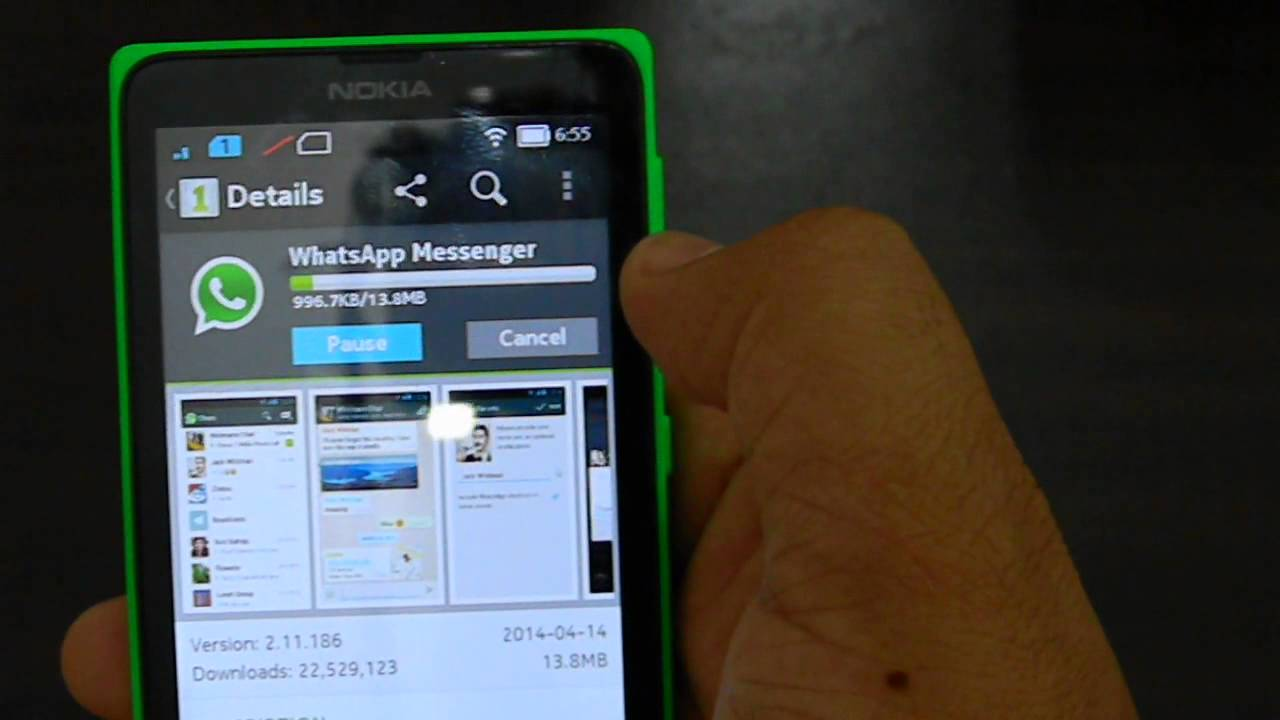 Phone Whatsup For Android Phone how to install whatsapp on the nokia x android phone youtube