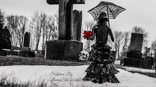 How its Made The Death's Widow Sculpture Welded Art Woman Statue Gothic Scrap Metal Graveyard Artist