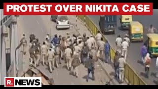 Nikita Tomar Case: Police Lathi-Charge Protesters In Haryana's Ballabhgarh After Mahapanchyat