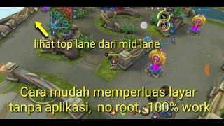 cara mudah memperluas layar map mobile legends 5 menit langsung main