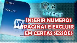 INSERIR NUMERO PAGINAS E EXCLUIR EM CERTAS SESSÕES DE NUMERAÇÃO thumbnail