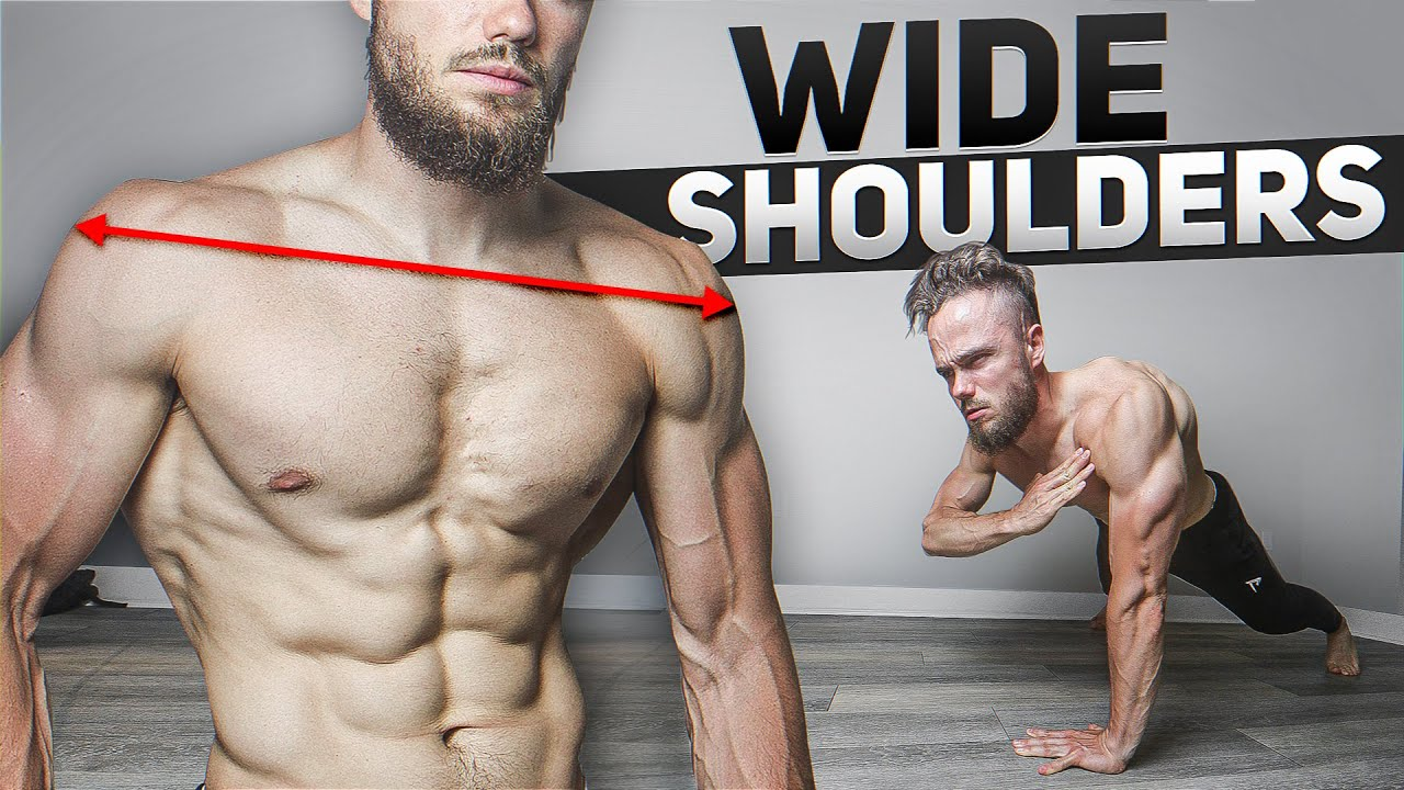GET WIDE Shoulders in 10 minutes (HOME WORKOUT. NO EQUIPMENT)