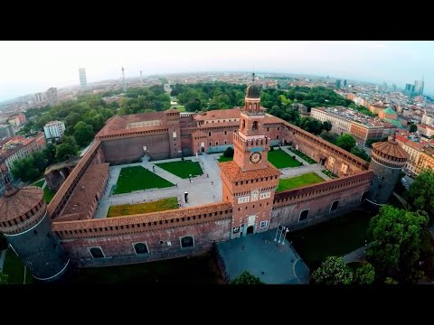 Aerial Showreel in Italy '15 (Milano, Castello Sforzesco, Is