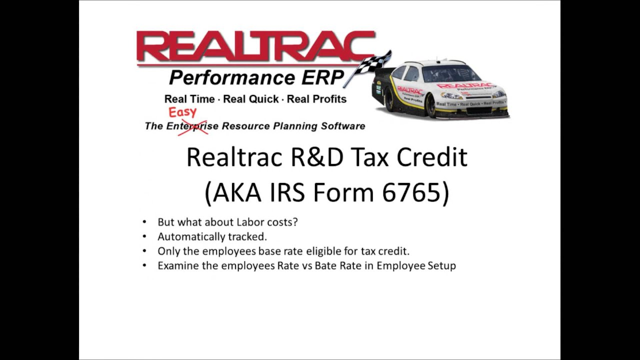 Realtrac new feature rd tax credit feature form 6765 youtube realtrac new feature rd tax credit feature form 6765 falaconquin
