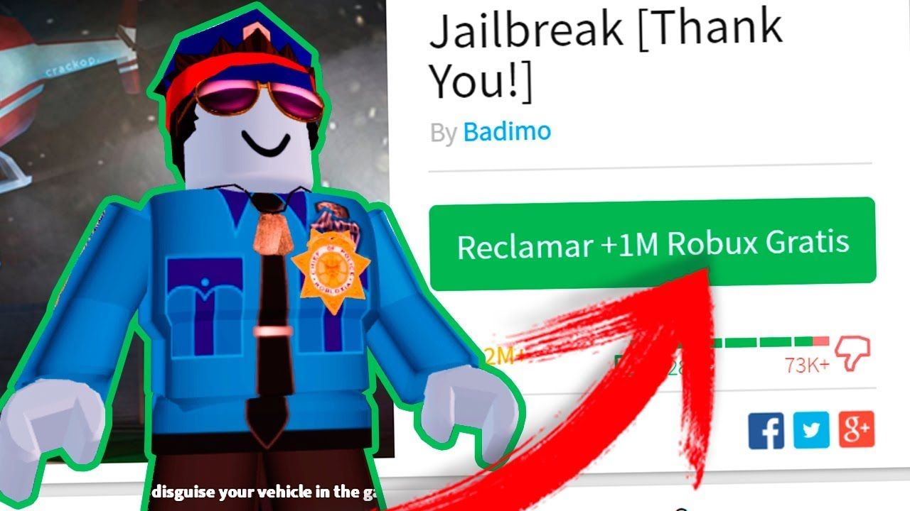 Como Conseguir Millones De Robux Gratis Jugando Jailbreak Como Policia Roblox Cazando Mitos - youtube jacket roblox