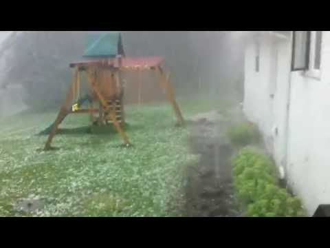 Severe hail in Jamestown, NY