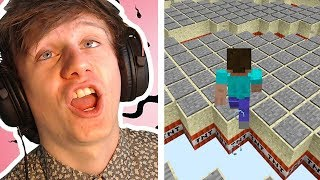 playing minecraft tnt run over & over until I win