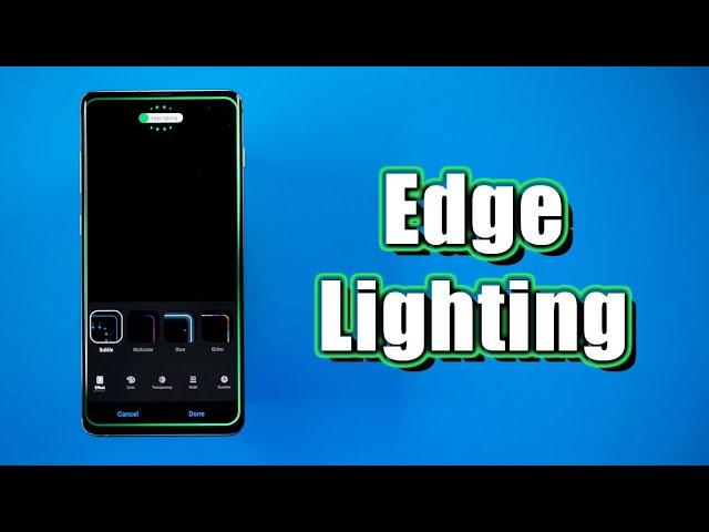 edge lighting tutorial for galaxy s10