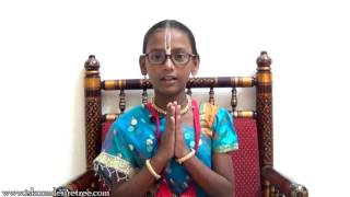 Kids Srila Prabhupada Vyas Puja offering by Saloni