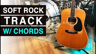 JAM TRACK with CHORDS - Soft Rock in D Major