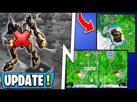 *NEW* Fortnite 10.10 Update! | RIP Salty Springs, All Mech Changes, Leaked Map!