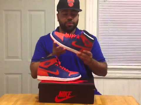 buy popular 09244 a5ac6 Air Jordan 1 Retro High OG Knicks aka Melos - YouTube