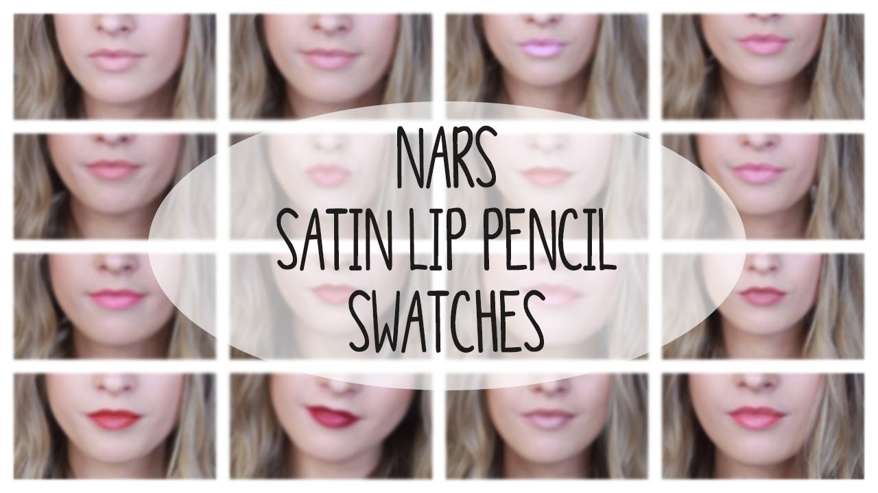 Nars Satin Lip Pencil Collection Swatches On Lips Velvet Gloss You