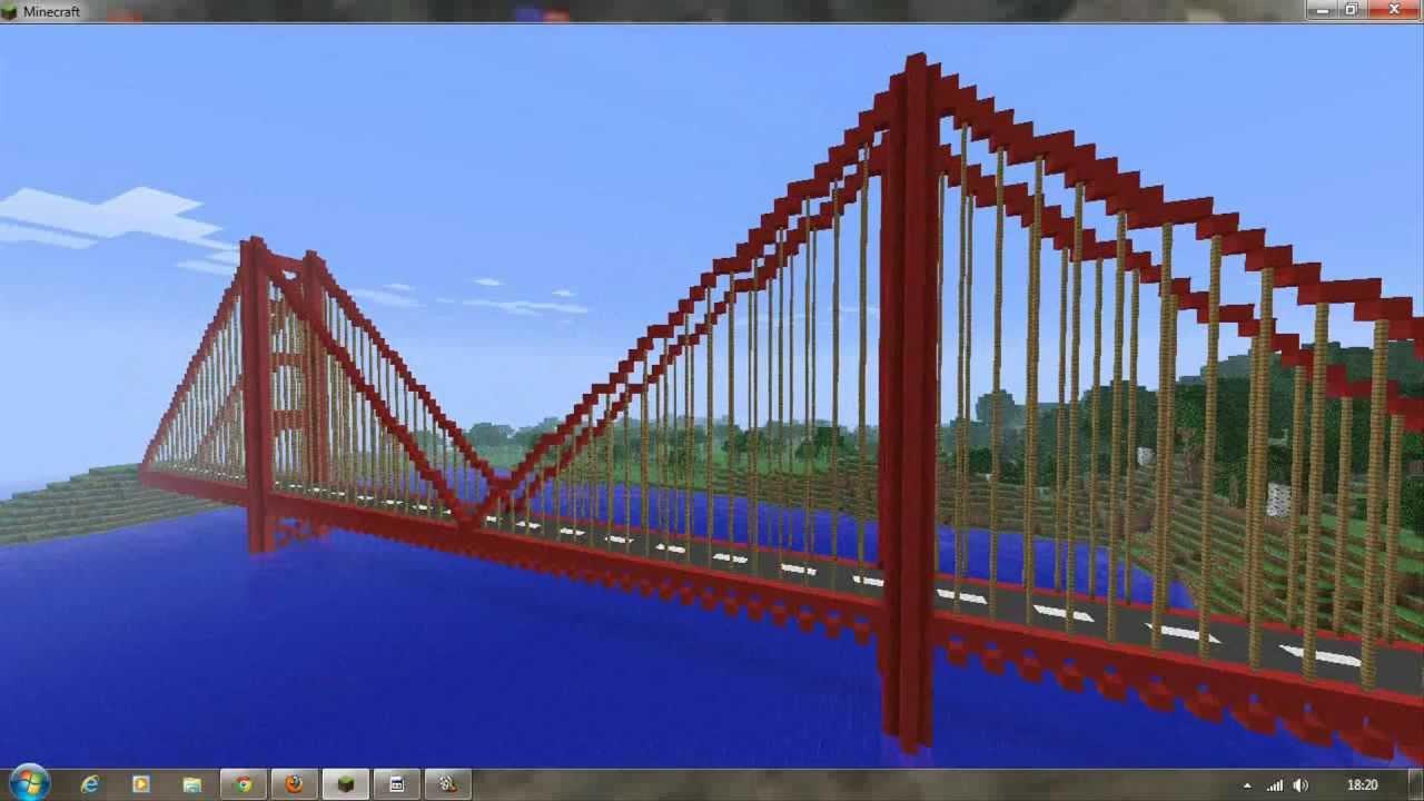 Minecraft Creations Golden Gate Bridge Youtube