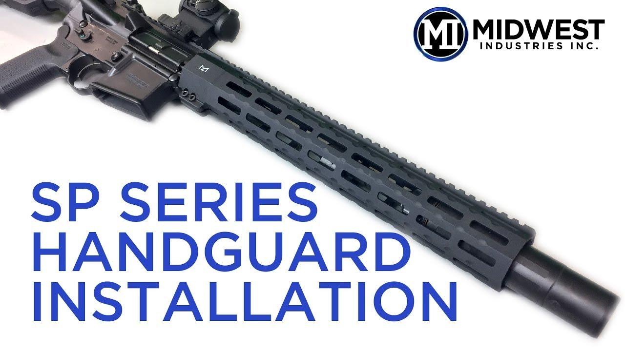 MI-SP18M-BLK MI SP-Series (Suppressor Compatible) One Piece Free Float  Handguard, M-LOK(TM) compatible - Black