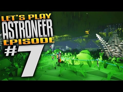 Astroneer Gameplay - Ep 7 - Exotic Planet Underground Jungle Biome! (Let's Play Astroneer Gameplay)