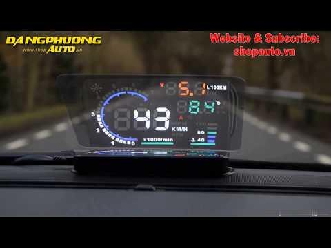 Thiết Bị Hiển Thị Tốc Độ Trên Kính Lái Xe Ô Tô HUD A8