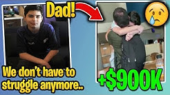 13 Year Old Kid *HEART WARMING* Moment With DAD After WINNING $900K in Fortnite World Cup Finals!
