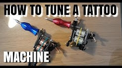 How to Tune a #Tattoo machine as a beginner step by step