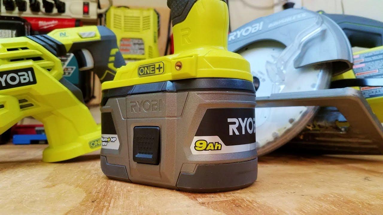 Ryobi One 18V 9Ah Battery Review