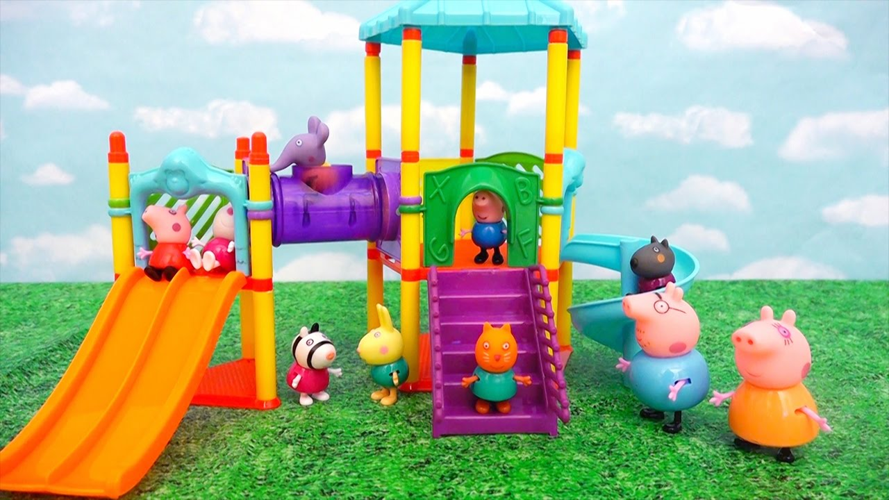 reputable site d1176 d06f4 Toys for Kids Peppa Pig Play Doh Ice Cream & Playground Slide - Daddy Pig  Gets Stuck in the Tunnel - YouTube