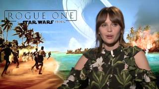 Felicity Jones (³Jyn²) opens up about STAR WARS ROGUE ONE