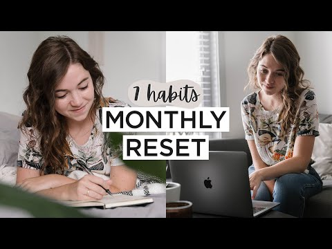 MONTHLY RESET | 7 Things To Do To Plan + Prepare For The Next Month