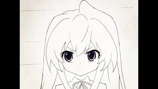 How to draw Taiga (Toradora)