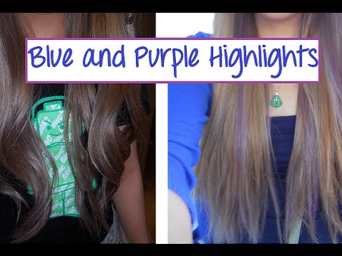 Diy purple and blue hair highlights youtube diy purple and blue hair highlights solutioingenieria Image collections